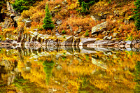 Reflection in Maroon Bells Pond - Abstract
