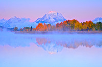 Alpenglow on Oxbow Bend