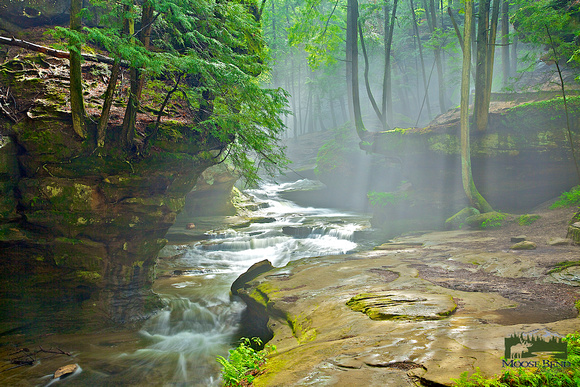 Morning Fog After a Heavy Rain - Old Man's Cave