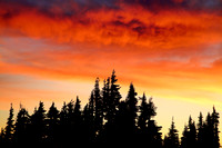 Sunset on Hurricane Ridge